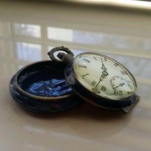 Vintage Glass Clock Pillbox